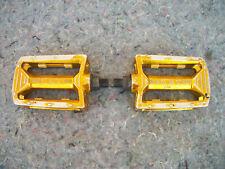 "Old School KKT BMX 1/2"" Pedals....GOLD...."