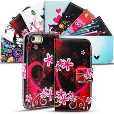 Handy Tasche Apple iPhone 5 5S SE Flip Cover Case Schutz Hülle Etui Motiv Wallet