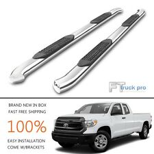 """For 2007-2017 TOYOTA TUNDRA DOUBLE CAB 4"""" Curved Bent Nerf Bars Side Step Board"""