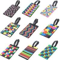 Travel Luggage Tags Labels Straps Name Address ID Suitcase Bag Baggage Secure!