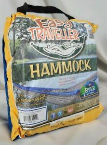 Byer of Maine Easy Traveller Hammock Blue, Lightweight, Compact, 275 lb limit