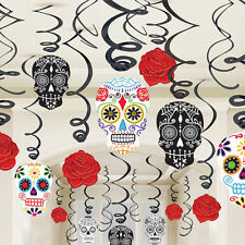 30 Halloween Day of the Dead Hanging Swirls Party Decorations Spooky Decoration