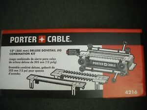 """Porter Cable 4216 12"""" Deluxe Dovetail Jig Combination Kit & Templates New"""