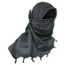 100% Cotton Military Shemagh Scarf Keffiyeh Sniper Veil Head Wrap Grey & Black