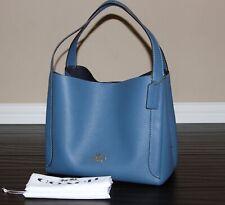 💚 COACH 73549 Hadley Hobo Leather Shoulder Bag Tote Purse Handbag~ Lake Blue