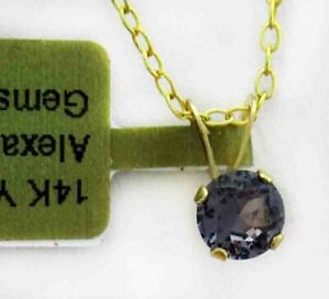 AAA  ALEXANDRITE 0.74 Cts PENDANT 14k YELLOW GOLD * New With Tag *
