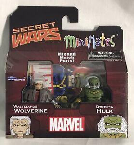Marvel Minimates Secret Wars WASTELAND WOLVERINE & DYSTOPIA HULK, Old Man Logan