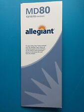 ALLEGIANT AIRLINES MD-80 SAFETY CARD--NEWEST VERSION
