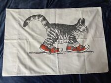 Vintage B Kliban Sneaker Cat Pillowcase 20 x 30 Slightly used
