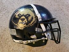NAVY BLUE SCHUTT DNA RECRUIT GRIZZLIES USED FOOTBALL HELMET SIZE LARGE!