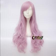 Lolita Mixed Purple Pink 60CM Long Wavy Heat Resistant Cosplay Wig+Wig Cap