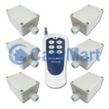 6 Kanal 220V Funk Lichtschalter / Türöffner 10A - 1 Sender & 6 AC Empfänger
