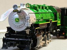 LIONEL JOHN DEERE STEAM ENGINE & TENDER LIONCHIEF REMOTE CONTROL train 6-83286 E