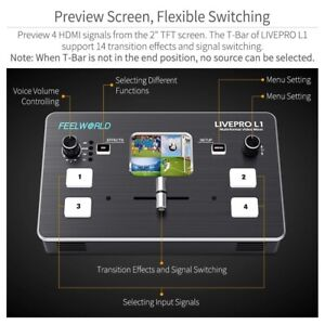 Fpr USB3.0 Live Streaming Multi-format Video Mixer Switcher 4 HDMI Input supply