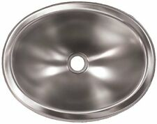 Trailer Oval Sink 10in x 13in Single Bowl Stainless Steel RV Camper Kitchen Part