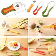3X Stainless Fruit Fruit Vegetable Pattern Carving Garnishing Dig Ball Spoon Set