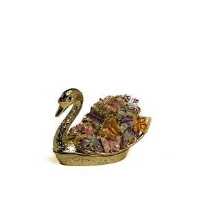 Butterfly Swan trinket box hand made by Keren Kopal & Austrian crystals