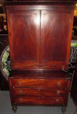 Antique America Federal Secretary Bookcase_Mahogany Circa 1830_Bargain Price!