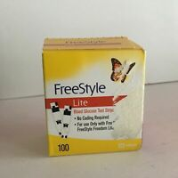 Freestyle Lite 100 Count,Exp:01/31/2021 Diabetic Glucose Test Strip, Sealed