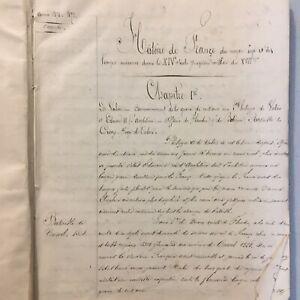 Cahier Manuscrit Histoire De France  Xix Siècle Approx 200 Page
