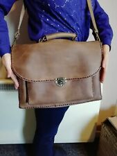 vintage style real leather laptop bag suitcase