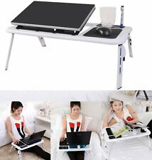Portable Adjustable Foldable Laptop Desk Table Stand Bed Notebook Tray+ Fan EK