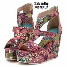 Medium (B, M) Wedge Party Floral Heels for Women