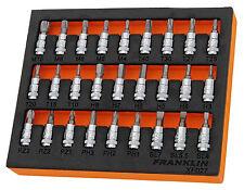 """Franklin 27 PCE BIT Socket SET 1/4"""" DR Garage/ Workshop Tool KIT Essentials"""