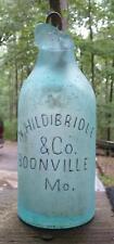 MISSOURI BLOB TOP SODA BOTTLE-N.Hildibridle-Boonville--c1870s