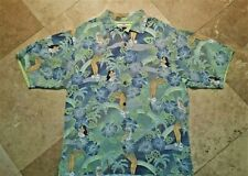 Tommy Bahama Button Front Short Sleeve Hawaiian Shirt Silk Floral Green S