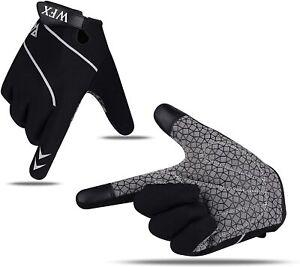 Men Cycling Gloves Bike Half Finger Bicycle Padded Full Finger Sports MTB