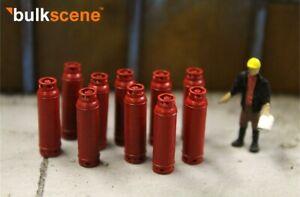 BULKSCENE - RED GAS BOTTLES MODELS - PACK OF 10 - OO GAUGE 1/76