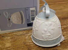 Lladro Annual Christmas Bell 1994 With Box Bisque Spain 6139 Angels Singing