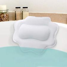 Anti-Mold Bathtub Spa Pillow Non-Slip 4 Strong Suction Cups bath Tub Head Neck