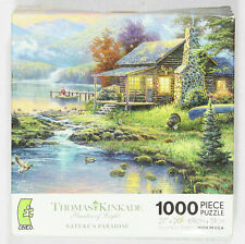 1000 Piece Puzzle CEACO Jigsaw Puzzle Natures Paradise Thomas Kinkade Preowned