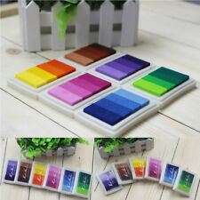 1Pc Craft Multi Colors Ink Pad Oil For Rubber Stamp Paper Wood Fabric Durable