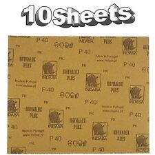 Indasa Rhynalox Plusline Production Paper P40 grit Sand Paper x 10 Sheets