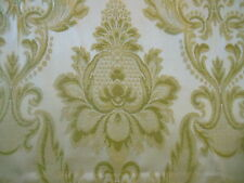 Vintage Soft Green Damask Fabric ~ upholstery  projects ~ French style
