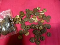 lot =25,boutons    15mm    3trous ,en écorce noix de coco