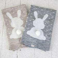 Hand-made organic semiwool baby blanket Bunny Dreamer