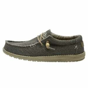 Men's Hey Dude Shoes Mens Wally Natural Army Vegan Slip On Loafer