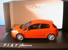 FIAT GRANDE PUNTO ORANGE METAL 2005 3 PORTES TURER NOREV 771064 1/43 DIE CAST