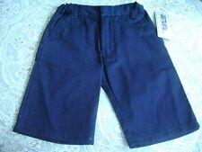 New Sz 6 Boys Genuine School Uniform Shorts Navy Blue Flat Front 022