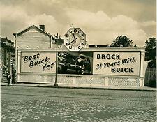 Advertising Clock Brock Buick 1941 Atlantic City Billboard 8 x 10 Day Photograph
