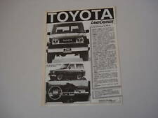 advertising Pubblicità 1986 TOYOTA LAND CRUISER