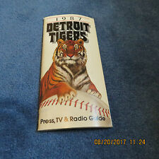 1987 Detroit Tigers MEDIA GUIDE