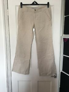 Old Navy Size 12 12R Beige Linen Blend Trousers.  (a16)