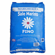 Margherita Sale Marino italienisches Meersalz Fino (0,2 -1,0 mm) 25 kg Feinstreu