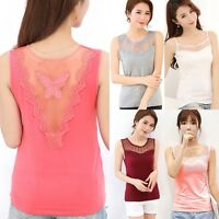 New Women's Summer Lace Vest Top Sleeveless Casual Blouse Tank Tops T-Shirt #