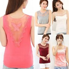 Fashion Women's Summer Lace Vest Top Sleeveless Blouse Casual Tank Tops T-Shirt^